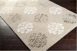 Surya Tamira TAM-1041 Sepia/Winter White/Mushroom Area Rug