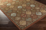 Surya Tatil TTL-1019 Chocolate/Moss/Olive/Beige Closeout Area Rug