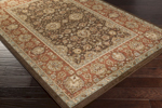 Surya Tatil TTL-1020 Chocolate/Moss/Beige/Gold Closeout Area Rug
