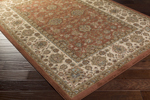 Surya Tatil TTL-1021 Chocolate/Moss/Beige/Gold Closeout Area Rug