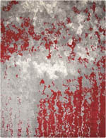 Nourison Twilight TWI21 GREY/RED Area Rug