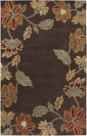 Surya Universal UNI-1000 Chocolate/Gold Closeout Area Rug - Spring 2012