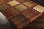 Surya Ventura VNT-7006 Rust/Chocolate/Gold Closeout Area Rug - Fall 2014