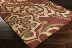 Surya Ventura VNT-7015 Burgundy/Beige/Olive Closeout Area Rug - Fall 2014