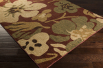 Surya Ventura VNT-7020 Burgundy/Olive/Tan Closeout Area Rug - Fall 2014