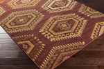 Surya Ventura VNT-7034 Plum/Taupe/Gold Closeout Area Rug - Fall 2014