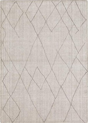 Karastan Tangier RG187 620 Tribal Diamond Silver Area Rug
