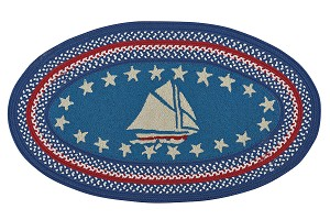 Capel Hyport 0383-430 Sailboat Colonial Closeout Area Rug