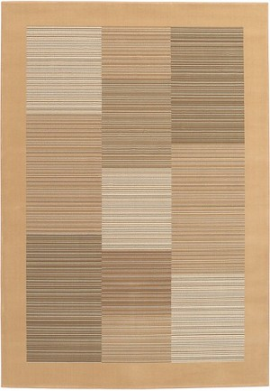 Couristan Everest 0766/5860 Hamptons Multi Stripe Sahara Tan Area Rug
