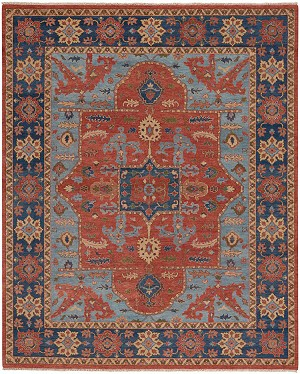 Capel Estate 1115-845 Nomad Rust Navy Area Rug