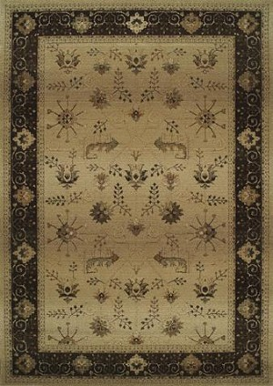 Oriental Weavers Genesis 112M1 Tan Closeout Area Rug