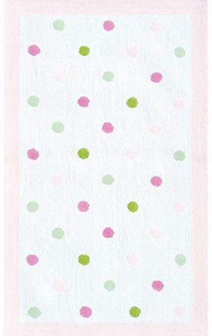 Rug Market Kids 11764 P Dots Pink White