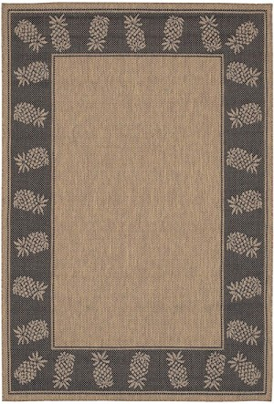 Couristan Recife 1177/2500 Tropics Cocoa/Black Area Rug