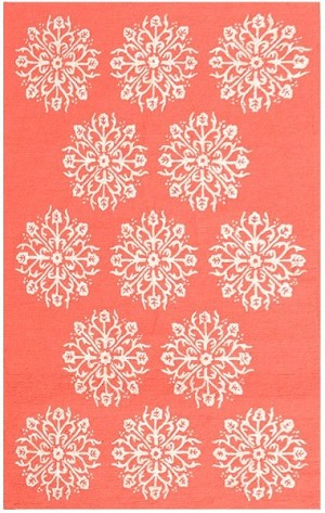 Rug Market Resort 25489 Hyannis Coral/Red Closeout Area Rug