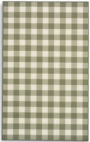 Rugs A Bounds 357 29773 Green Check