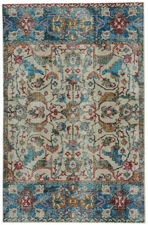Capel Banaz 3824-610 Manisa China Blue Area Rug
