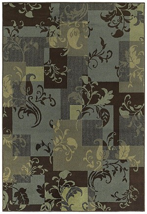 Shaw Living Concepts Idyll 07400 Blue Closeout Area Rug - 2014