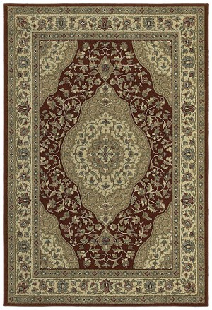 Shaw Living Concepts Beqir 08800 Red Closeout Area Rug - 2014