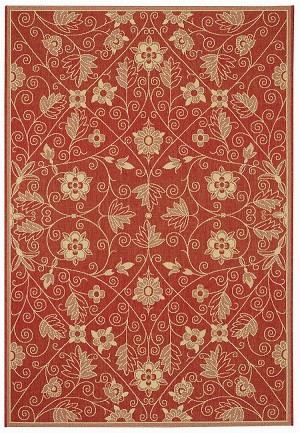 Capel Finesse 4699-525 Garden Maze Red Area Rug