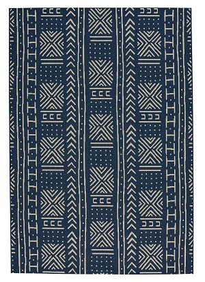 Capel Finesse 4722-475 Mali Cloth Navy Area Rug