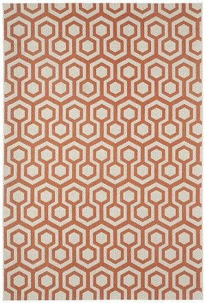 Capel Finesse 4728-825 Honeycombs Persimmon Area Rug