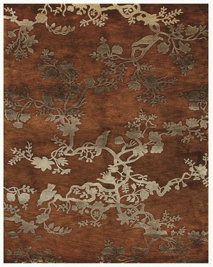 Feizy Bodhi 6033F Rust Closeout Area Rug