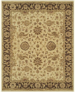 Feizy Drake 6049F Ivory/Brown Closeout Area Rug