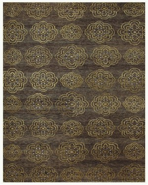 Feizy Qing 6065F Brown Closeout Area Rug