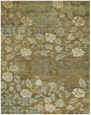 Feizy Qing 6068F Ocre Closeout Area Rug