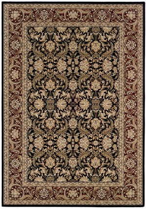 Couristan Himalaya 6259/2000 Isfahan Ebony/Persian Red Closeout Area Rug - Spring 2015