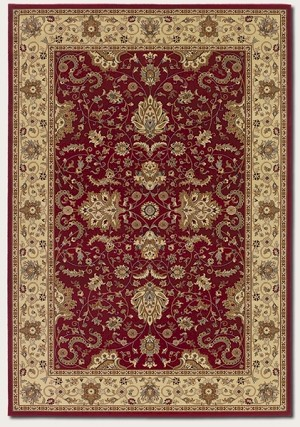 Couristan Izmir 7016/2000 Floral Bijar Red Closeout Area Rug