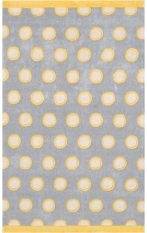 Rug Market Ecconox 72347 Astaire Yellow/Grey/Cream Closeout Area Rug