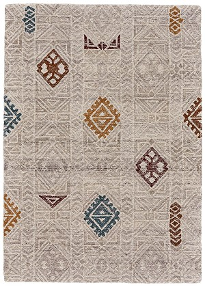 Feizy Turvey 8727F BEIGE/MULTI Closeout Area Rug