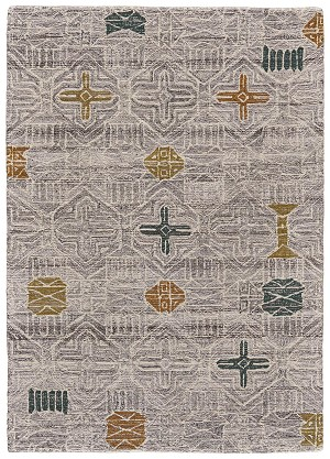 Feizy Turvey 8730F SILVER/MULTI Closeout Area Rug