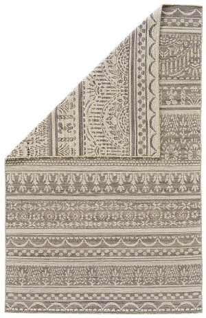 Feizy Leon 0125F GRAY/WHITE Closeout Area Rug