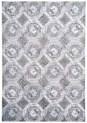 Feizy Marigold 3829F WHITE/STERLING Area Rug