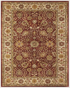 Feizy Alexandra 8058F Cranberry/Ivory Closeout Area Rug