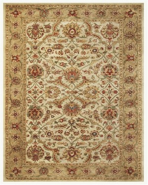 Feizy Alexandra 8059F Ivory/Light Gold Closeout Area Rug