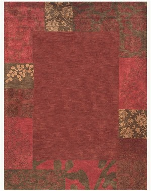 Feizy Mantra 8190F Red Closeout Area Rug
