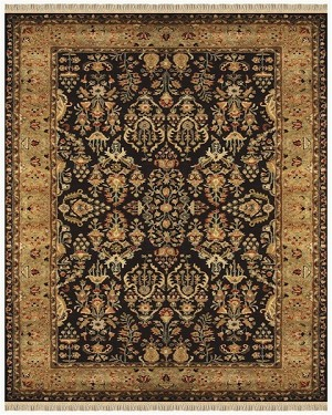 Feizy Amore 8327F Black Gold Closeout Area Rug