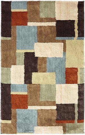 American Rug Craftsmen Shaggy Vibes 9220-81881 Underpainting Coco Butter Closeout Area Rug