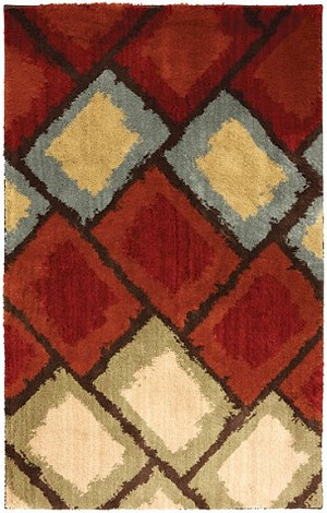 American Rug Craftsmen Shaggy Vibes 9598-30040 Abercorn Moroccan Red Closeout Area Rug