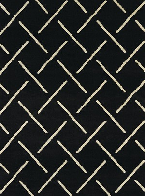 United Weavers Visions 970 20370 Striker Black Closeout Area Rug