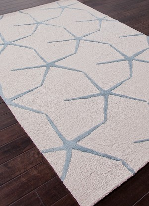 Jaipur Coastal Resort COR24 Starfishing Moonbeam & Winter Sky Area Rug