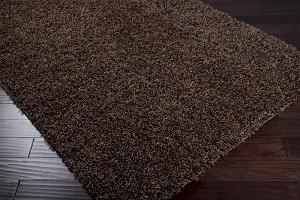 Surya Crinkle CRK-1603 Chocolate Closeout Area Rug