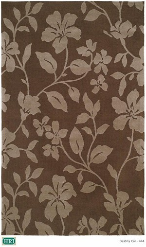 HRI Destiny 444 Chocolate Closeout Area Rug