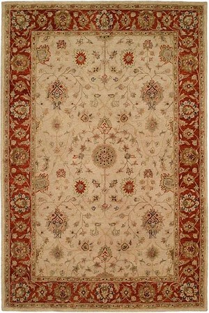 Allara Emphasis MP-1000 Ivory/Red Area Rug