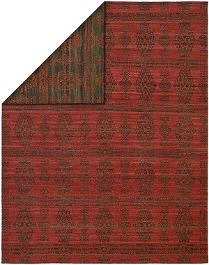 Allara Enigma NG-1003 Charcoal/Red Area Rug