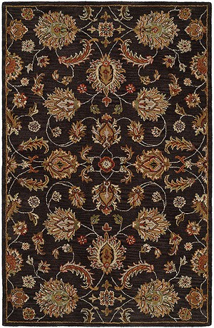 HRI Pars Kashan K-2682 Charcoal Closeout Area Rug