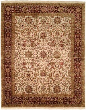 Allara Karmas AS-1006 Ivory/Burgundy Closeout Area Rug